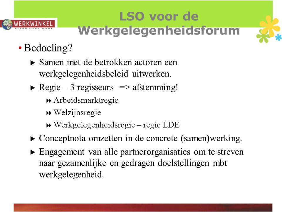 LSO voor de Werkgelegenheidsforum Bedoeling.