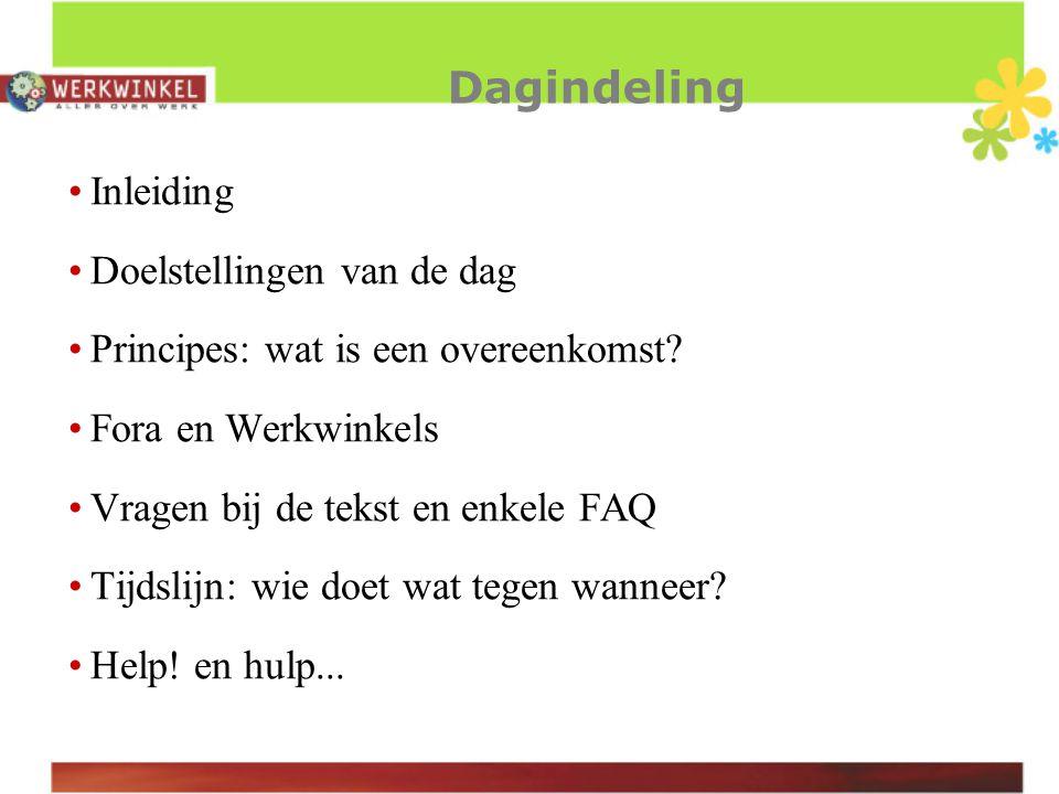 Doelstellingen Voorbereiding op de lokale onderhandelingen (achtergrond)Informatie Uitleg Onderscheid essentieel & bijkomstig.