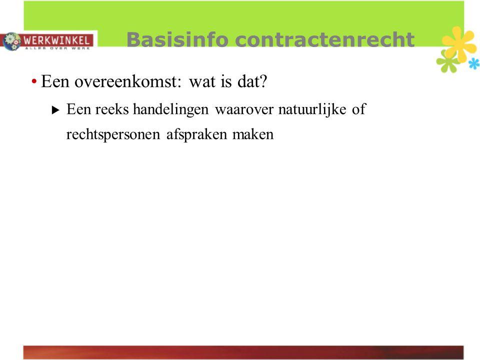 BW art.1134 Een overeenkomst geldt tussen de contracterende partijen als wet.
