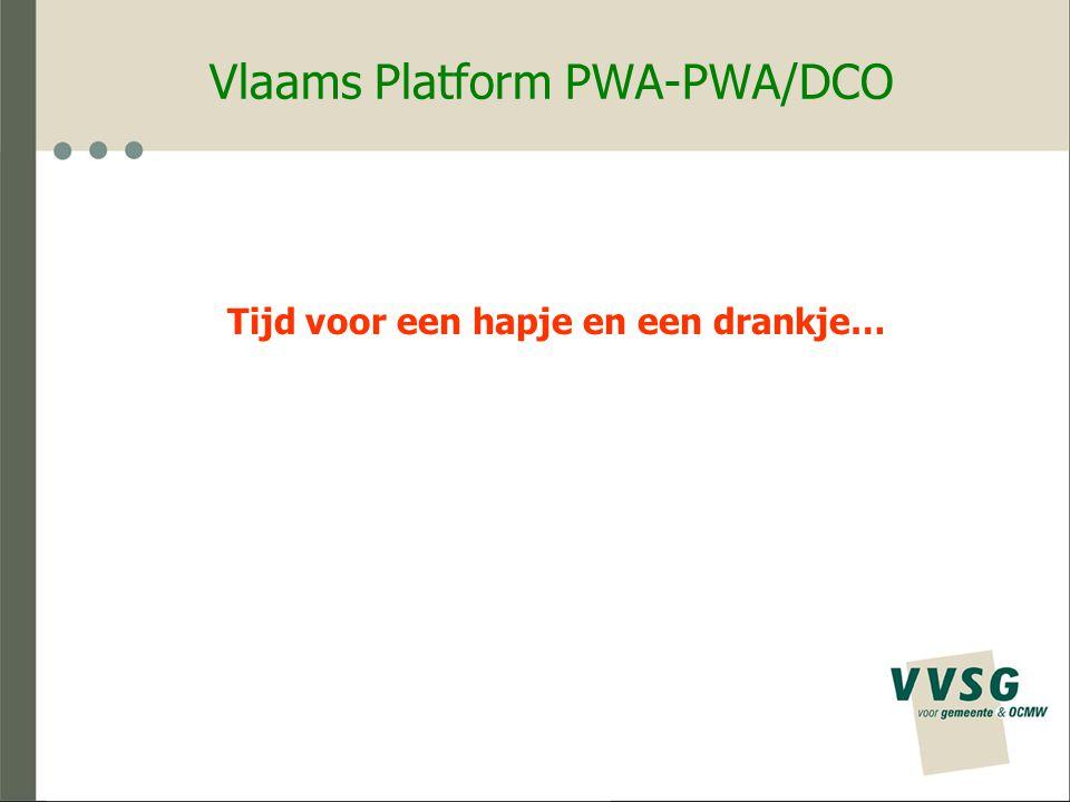 Vlaams Platform PWA-PWA/DCO Tijd voor een hapje en een drankje…