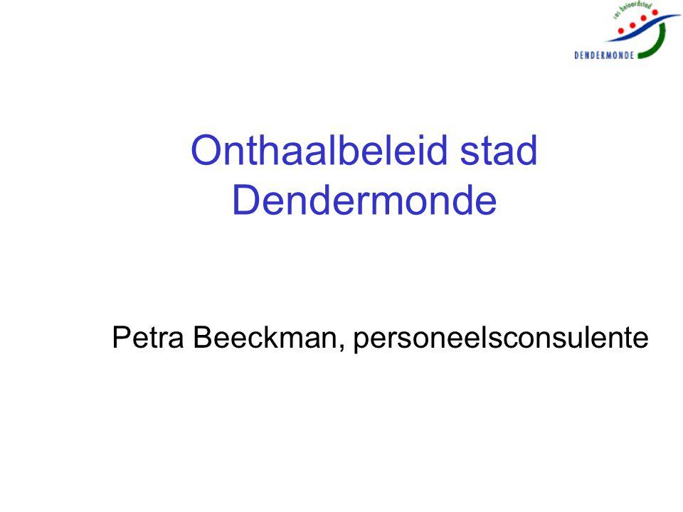 Onthaalbeleid stad Dendermonde Petra Beeckman, personeelsconsulente