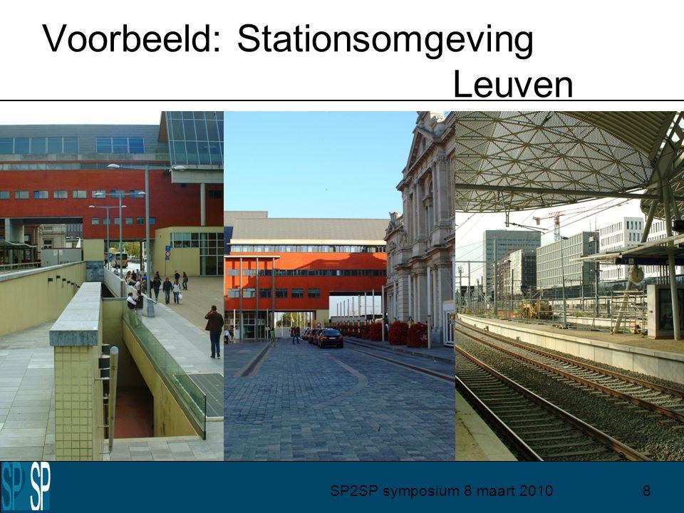 SP2SP symposium 8 maart 20108 Voorbeeld: Stationsomgeving Leuven