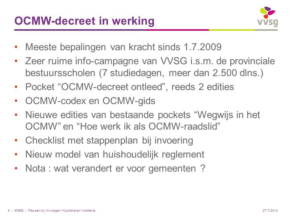 VVSG - Opvang asielzoekers : overbezet .2008 : kortere asielprocedure (max.