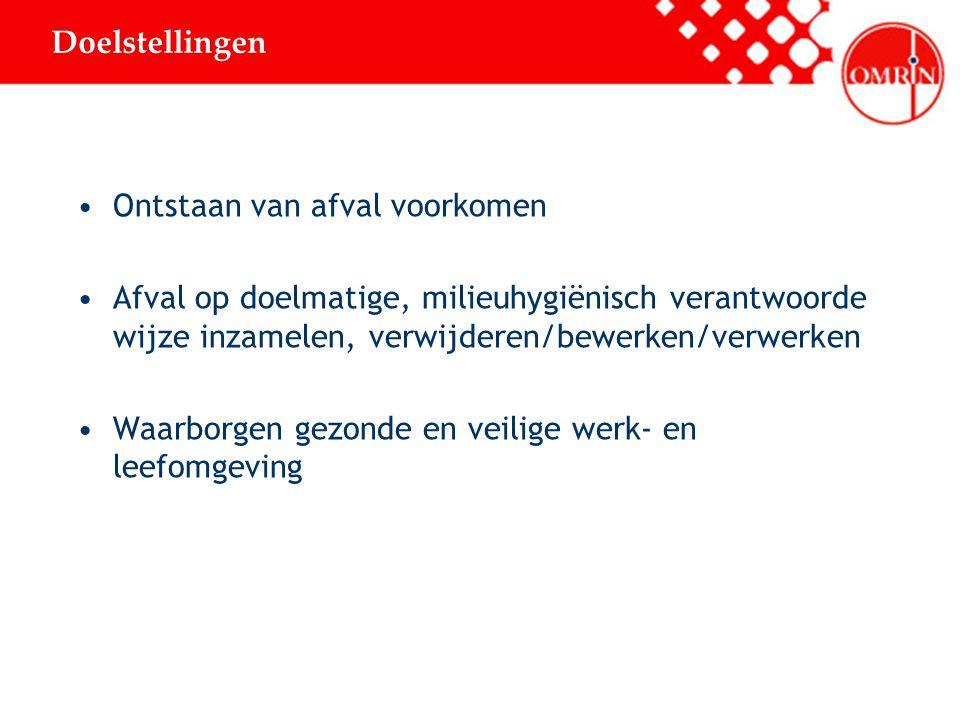 Omrin is een overheids-NV 31 Friese gemeenten zijn aandeelhouders Omrin verzorgt inzameling en/of verwerking van afval voor ca.