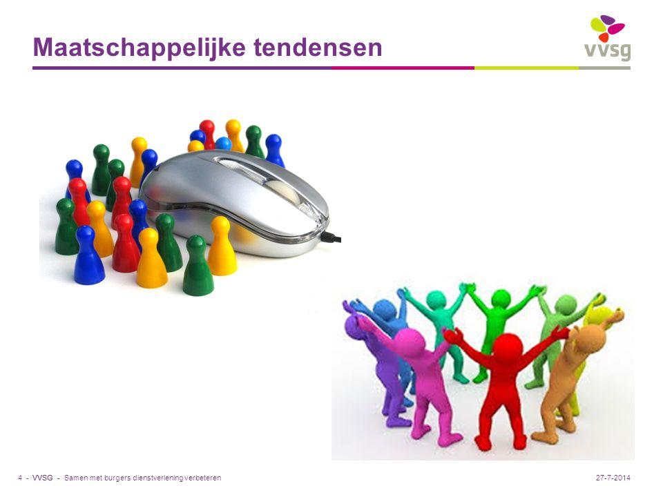 VVSG - Maatschappelijke tendensen 4 -27-7-2014Samen met burgers dienstverlening verbeteren