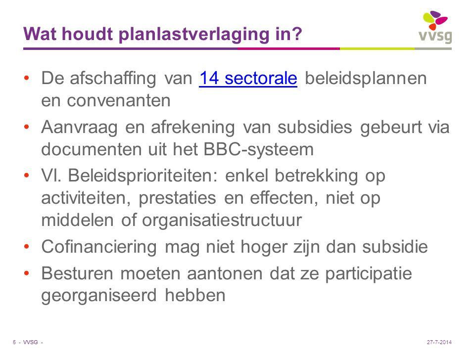 VVSG - Prioritaire beleidsdoelstelling Art.