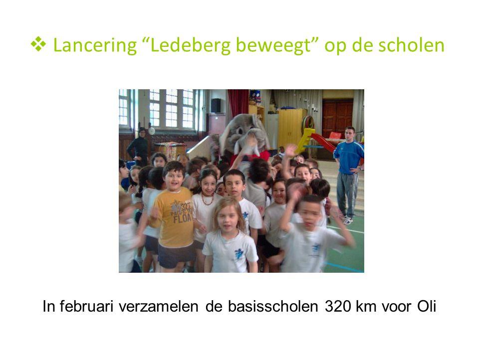 """ Lancering """"Ledeberg beweegt"""" op de scholen In februari verzamelen de basisscholen 320 km voor Oli"""