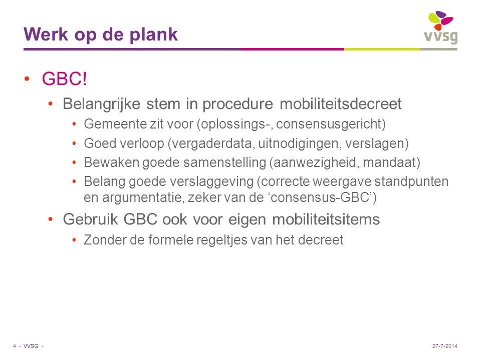 VVSG - Werk op de plank GBC.