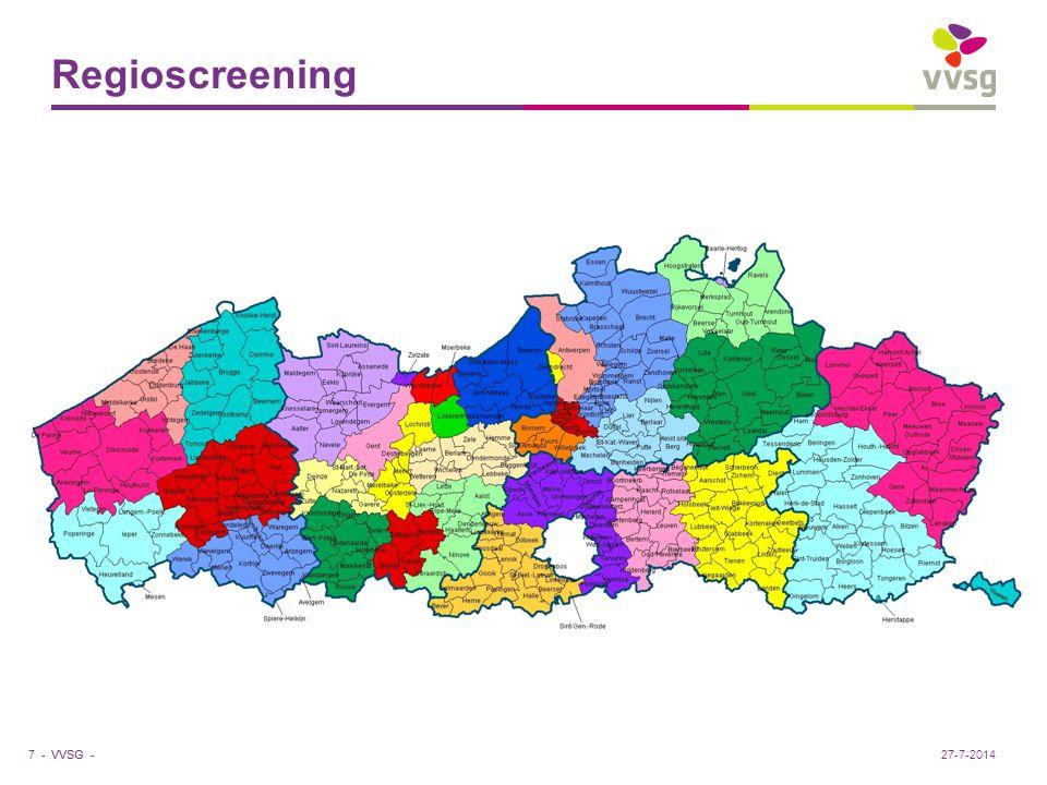 VVSG - Regioscreening 7 -27-7-2014