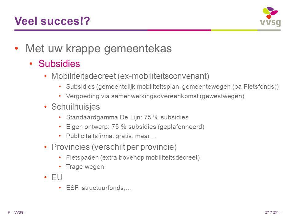 VVSG - Veel succes!.