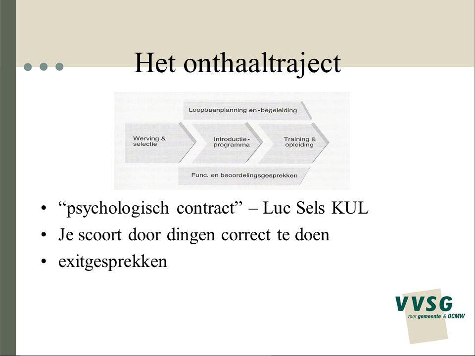 """Het onthaaltraject """"psychologisch contract"""" – Luc Sels KUL Je scoort door dingen correct te doen exitgesprekken"""