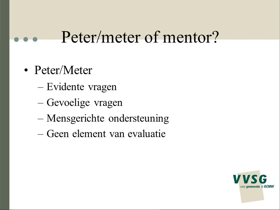 Peter/meter of mentor.