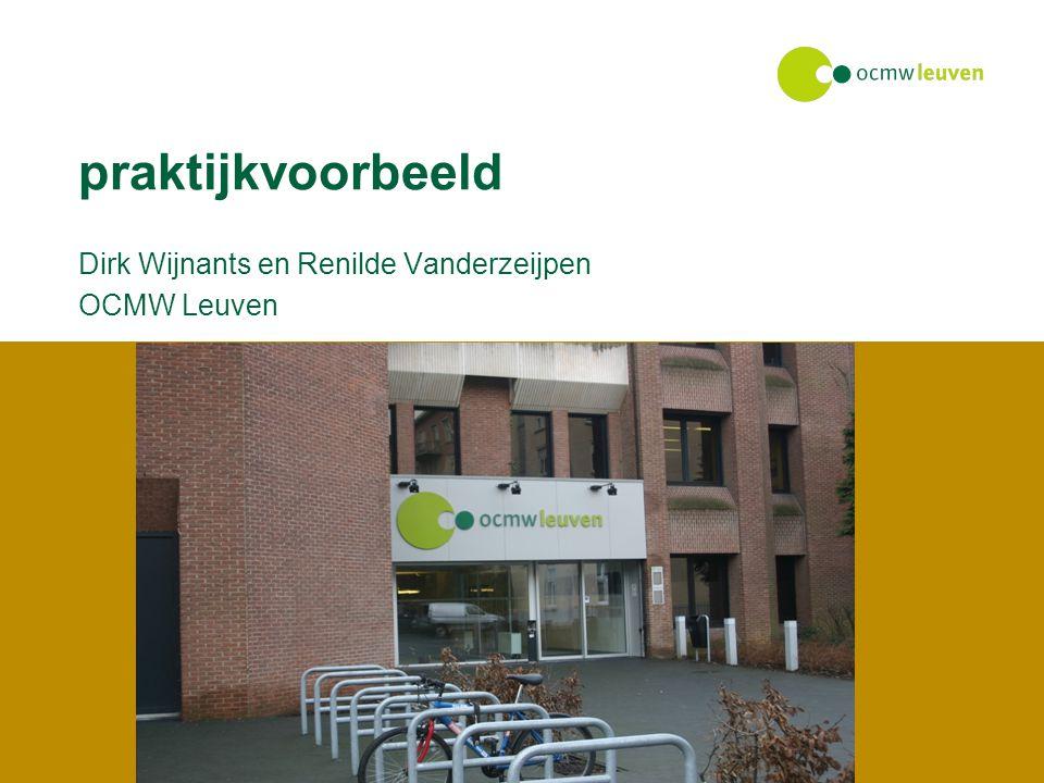 praktijkvoorbeeld Dirk Wijnants en Renilde Vanderzeijpen OCMW Leuven