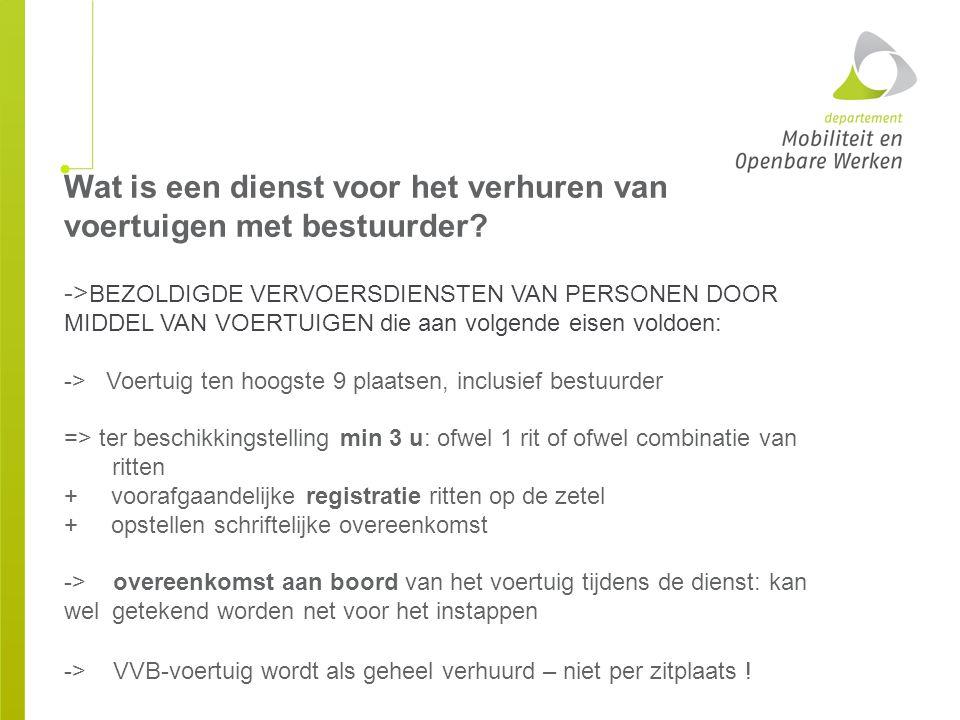 Toegang voertuigen en garages Vlaams toezichtspersoneel + politiediensten
