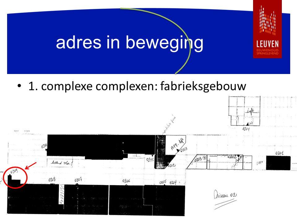 adres in beweging 1. complexe complexen: fabrieksgebouw