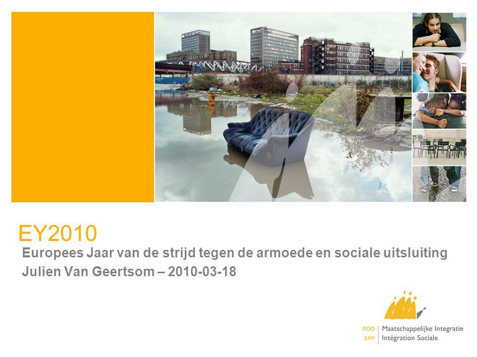 EY2010 Europees Jaar van de strijd tegen de armoede en sociale uitsluiting Julien Van Geertsom – 2010-03-18