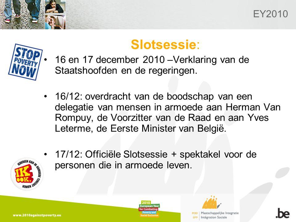 EY2010 Slotsessie: 16 en 17 december 2010 –Verklaring van de Staatshoofden en de regeringen.