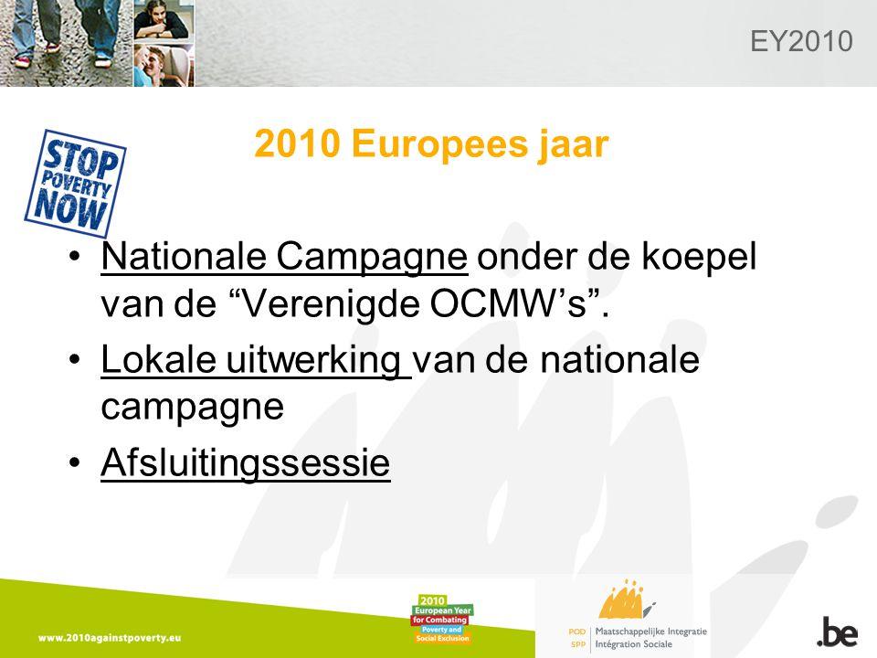 EY2010 2010 Europees jaar Nationale Campagne onder de koepel van de Verenigde OCMW's .