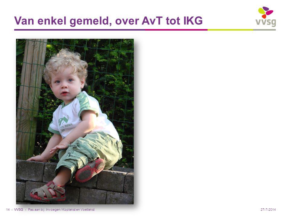 VVSG - Van enkel gemeld, over AvT tot IKG Pas aan bij: Invoegen / Koptekst en Voettekst14 -27-7-2014