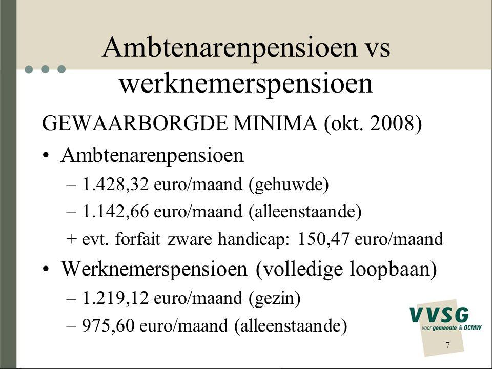 Overzicht concrete initiatieven 28 Tweede pensioenpijler Aanbod VVSG Aanbod provincie Antwerpen Aanbod provincie Limburg BIJDRAGE1% op loonmassa Hoeveel is hiervoor nodig.