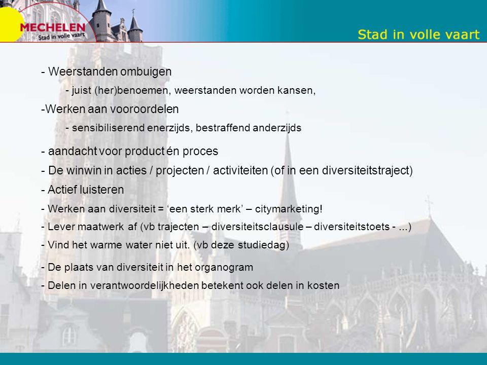 Kritsiche succesfactoren - Kansen zien - Stap per stap werken - Mix van strategie & actie. Enkele successen zijn noodzakelijk. - concrete aanleidingen