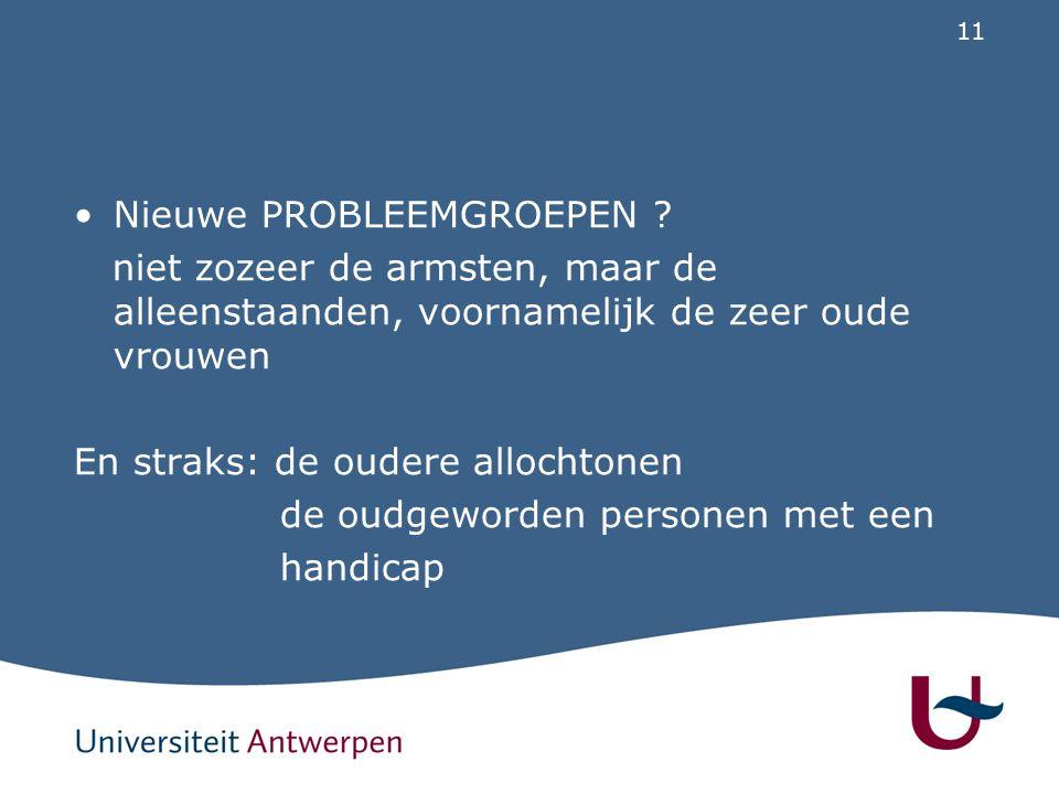 11 Nieuwe PROBLEEMGROEPEN .