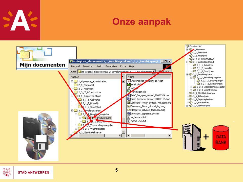 5 Onze aanpak ? waar zijn mijn digitale documenten ?