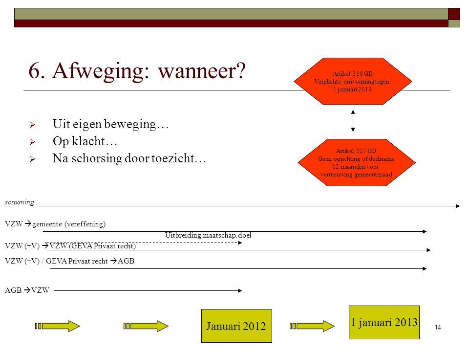Rasschaert Advocaten14 6. Afweging: wanneer.