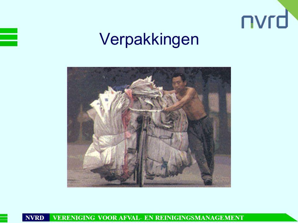 7 oktober 1999presentatie Maarten Goorhuis, beleidsmedewerker NVRD NVRD VERENIGING VOOR AFVAL- EN REINIGINGSMANAGEMENT Verpakkingen