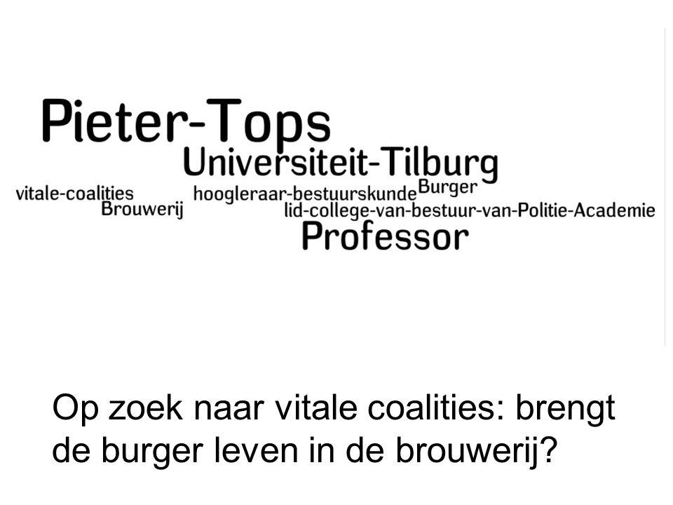 Burgers en veiligheid: van toeschouwer tot medespeler Studiedag VVSG, 19-5-2009 Prof.dr.