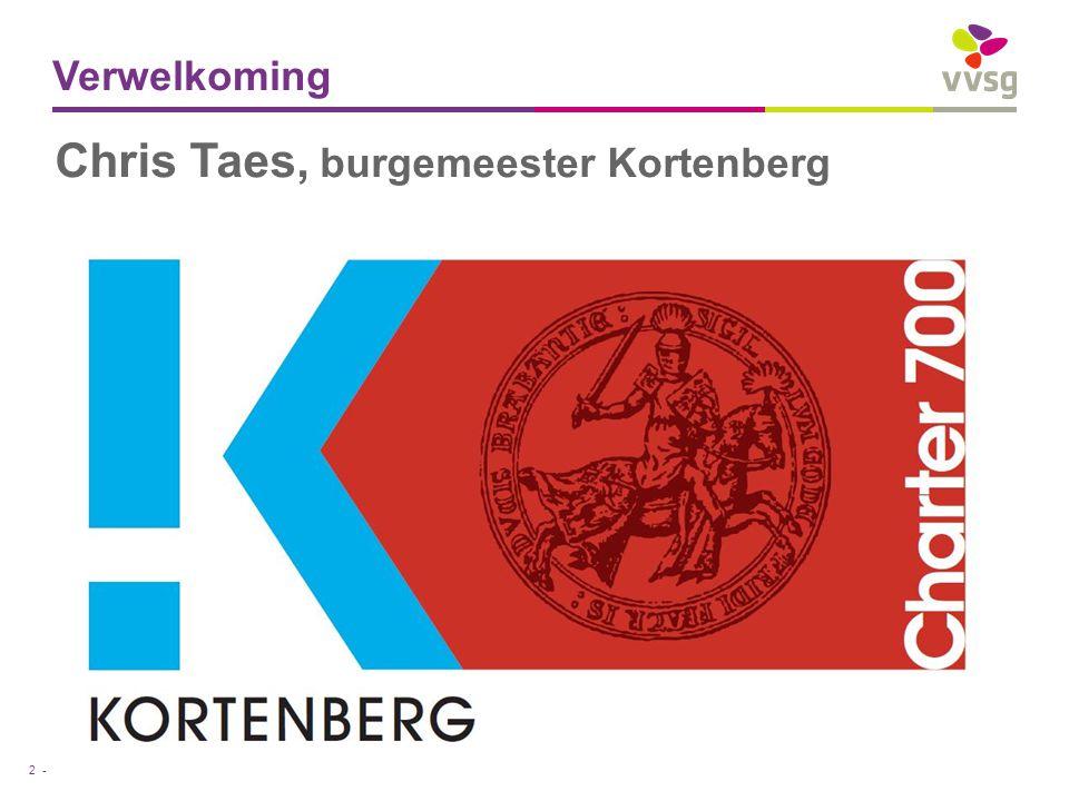 VVSG - Verwelkoming 2 - Chris Taes, burgemeester Kortenberg