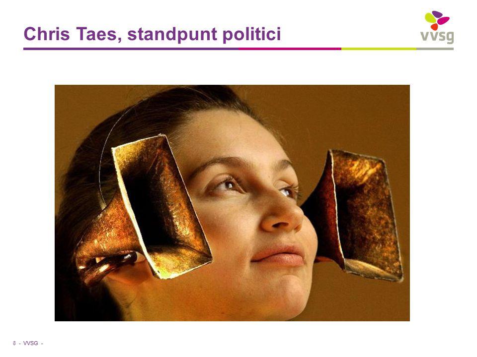 VVSG - Chris Taes, standpunt politici 8 -