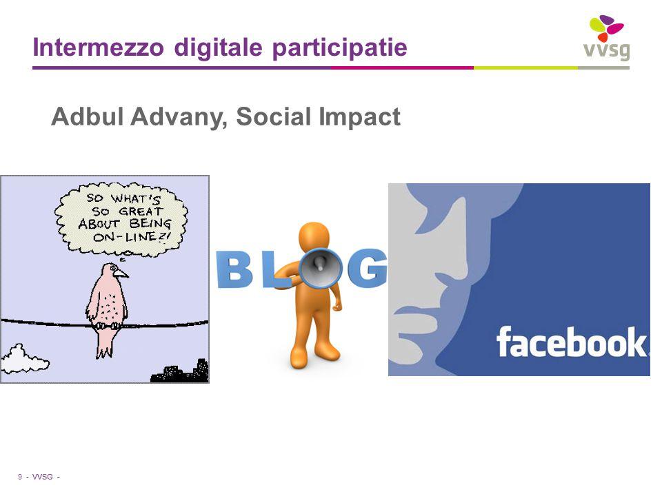VVSG - Intermezzo digitale participatie 9 - Adbul Advany, Social Impact
