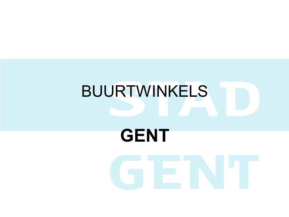 BUURTWINKELS GENT
