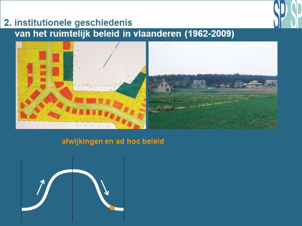 2. institutionele geschiedenis van het ruimtelijk beleid in vlaanderen (1962-2009) 1 afwijkingen en ad hoc beleid