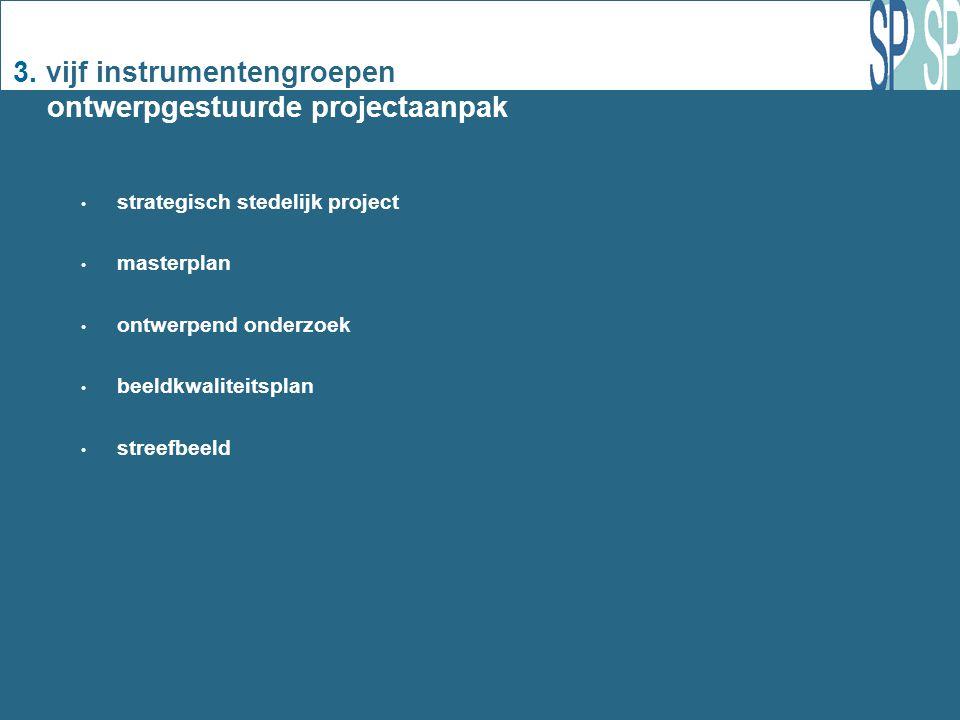 3. vijf instrumentengroepen ontwerpgestuurde projectaanpak strategisch stedelijk project masterplan ontwerpend onderzoek beeldkwaliteitsplan streefbee