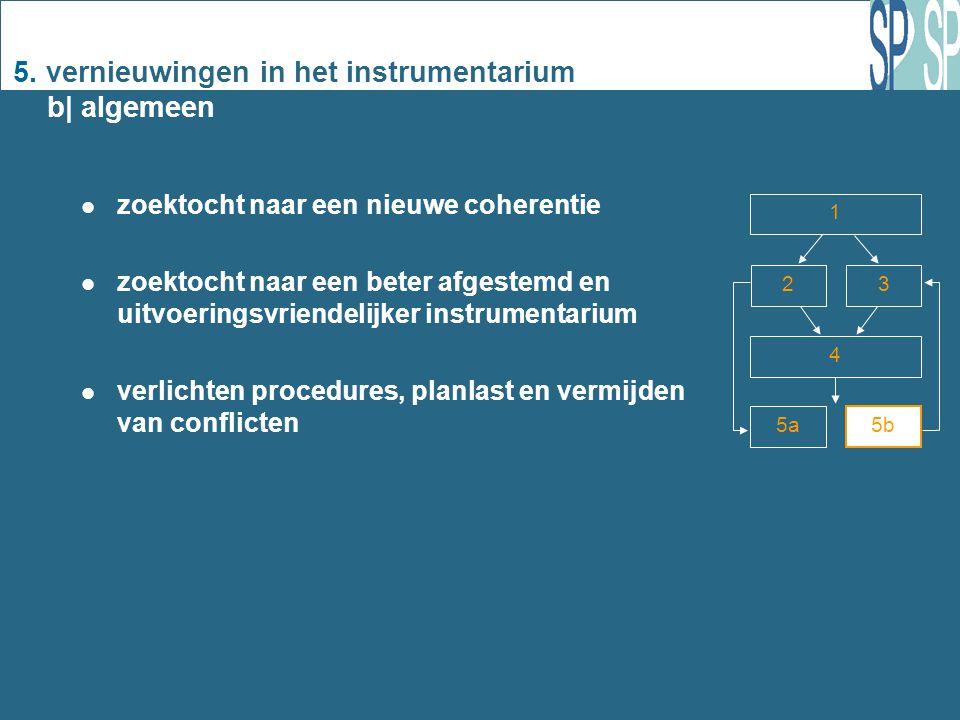 5. vernieuwingen in het instrumentarium b| algemeen zoektocht naar een nieuwe coherentie zoektocht naar een beter afgestemd en uitvoeringsvriendelijke