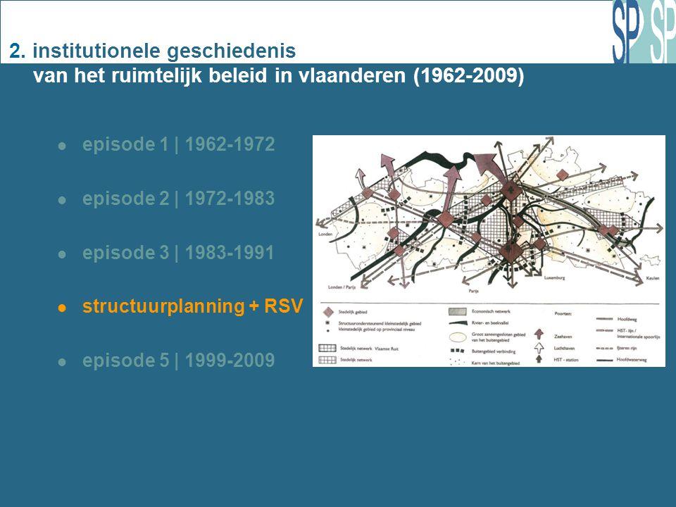 2. institutionele geschiedenis van het ruimtelijk beleid in vlaanderen (1962-2009) episode 1 | 1962-1972 episode 2 | 1972-1983 episode 3 | 1983-1991 s