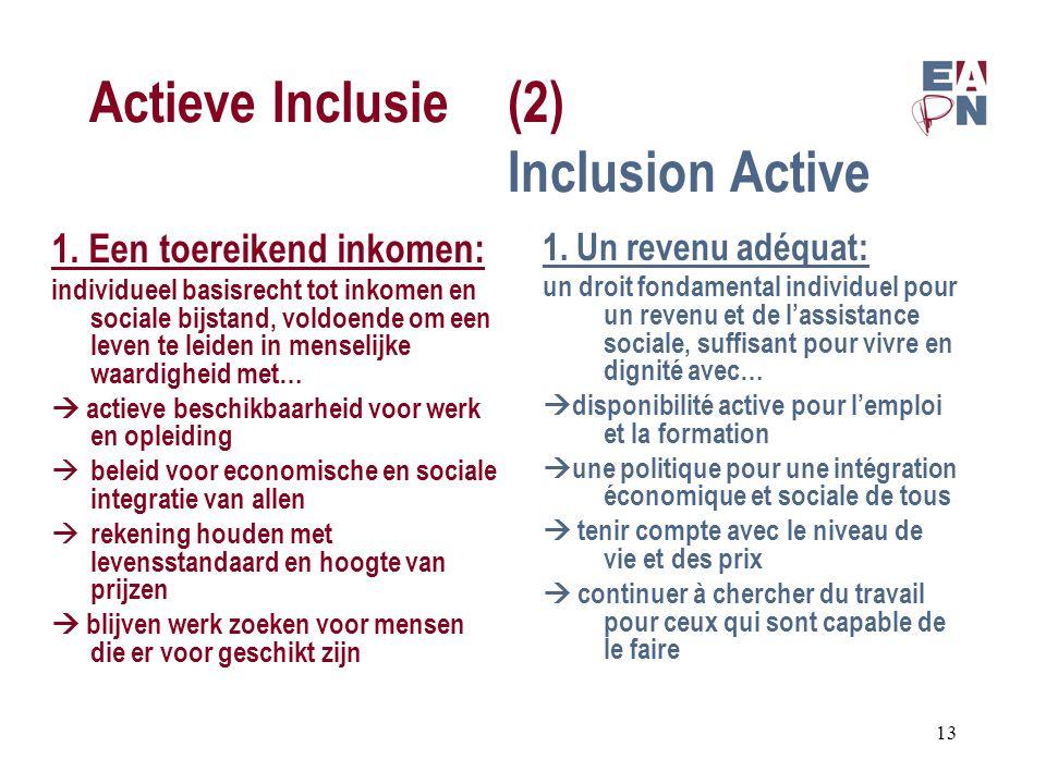 Actieve Inclusie(2) Inclusion Active 1.