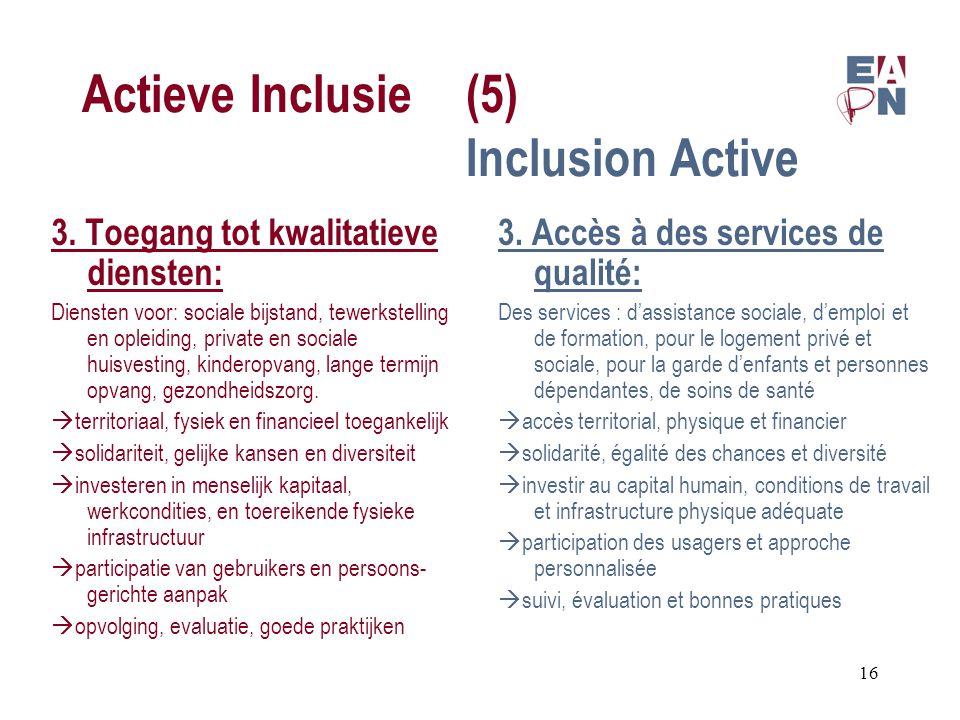 Actieve Inclusie(5) Inclusion Active 3.