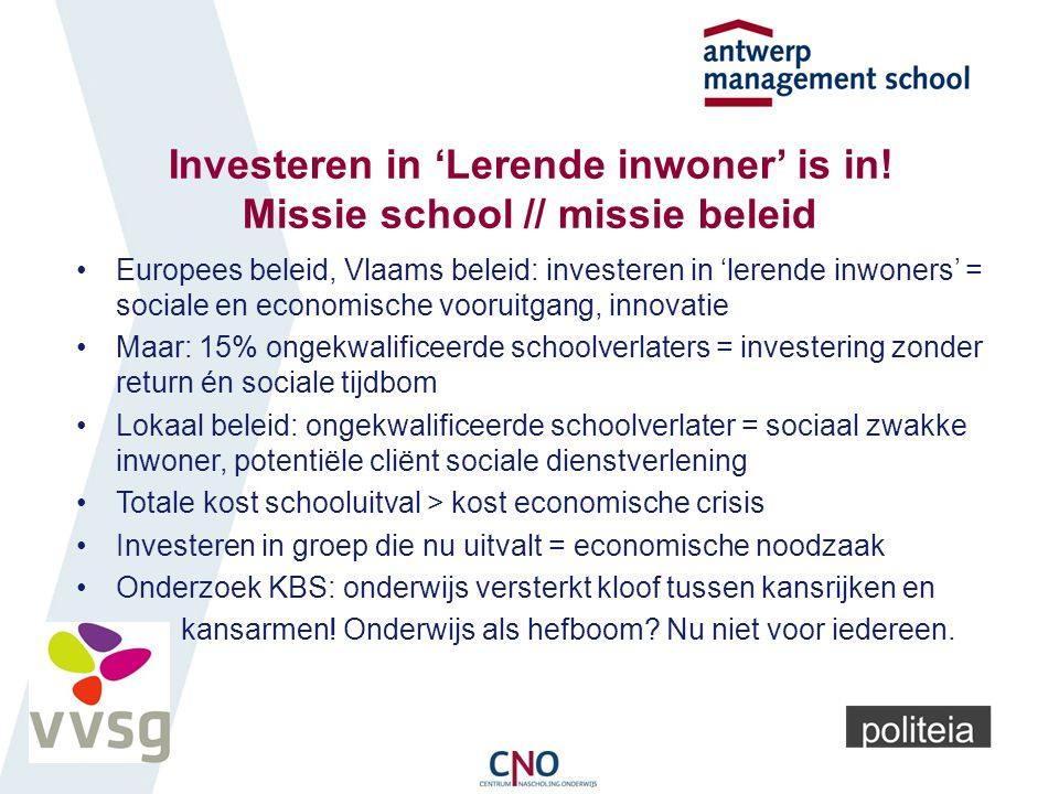 Investeren in 'Lerende inwoner' is in.