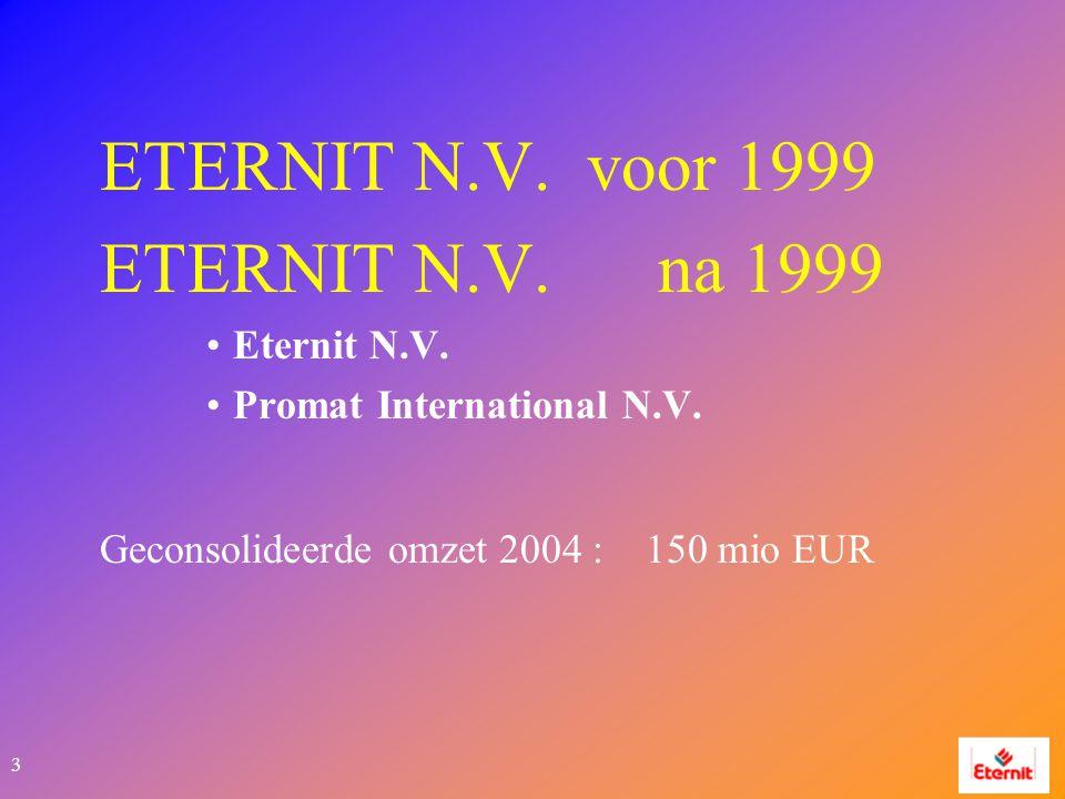 3 ETERNIT N.V. voor 1999 ETERNIT N.V. na 1999 Eternit N.V.