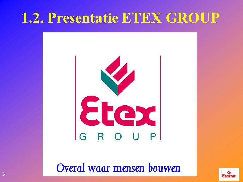 6 1.2. Presentatie ETEX GROUP