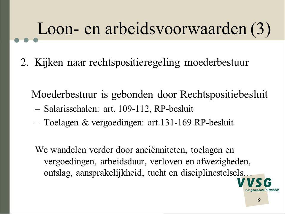 Loon- en arbeidsvoorwaarden (3) 2.