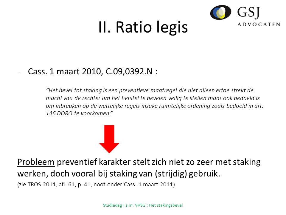 II.Ratio legis -Cass.
