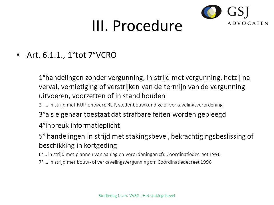 III.Procedure Art.