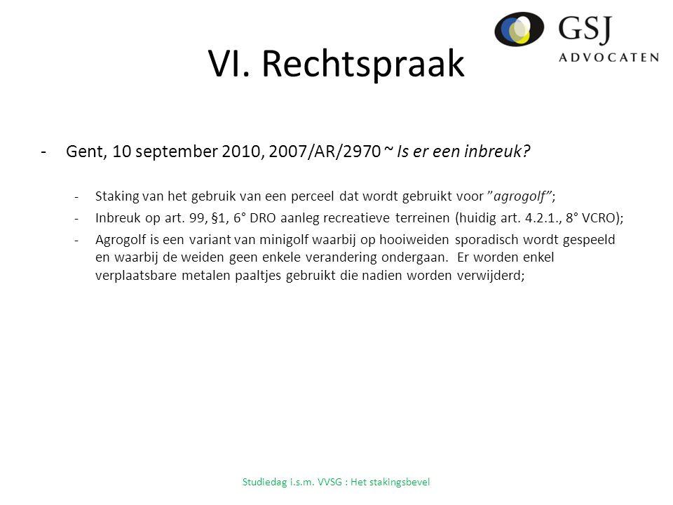 VI.Rechtspraak -Gent, 10 september 2010, 2007/AR/2970 ~ Is er een inbreuk.