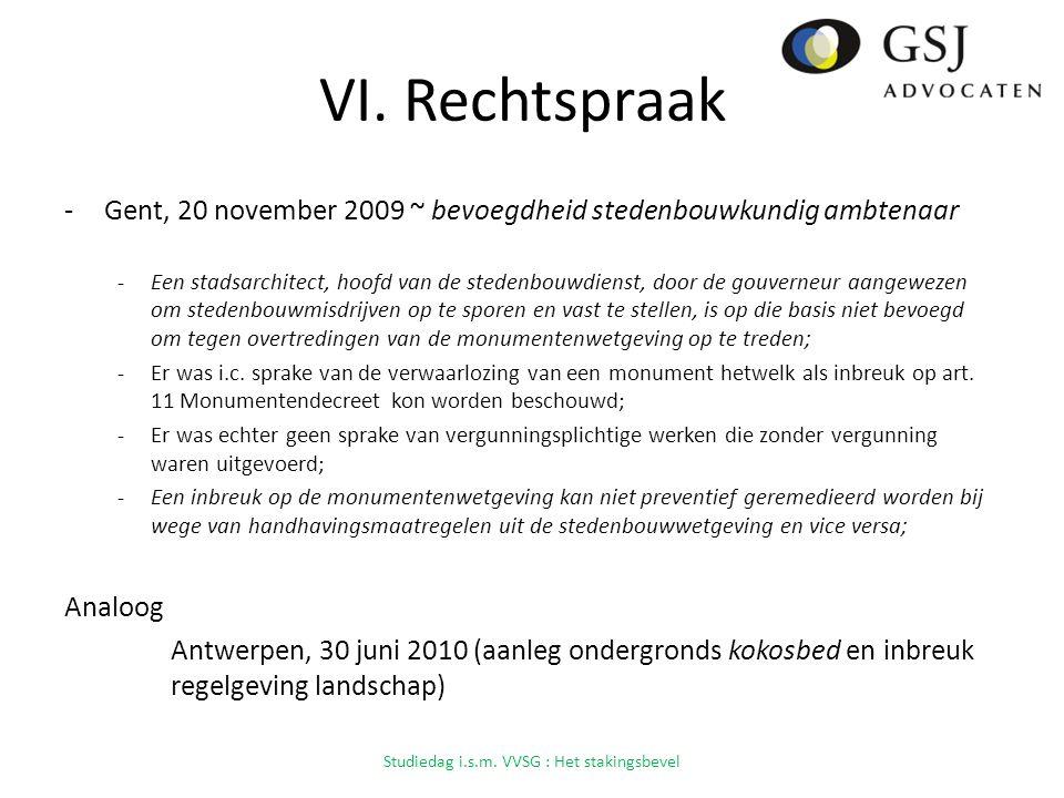 VI. Rechtspraak -Gent, 20 november 2009 ~ bevoegdheid stedenbouwkundig ambtenaar -Een stadsarchitect, hoofd van de stedenbouwdienst, door de gouverneu