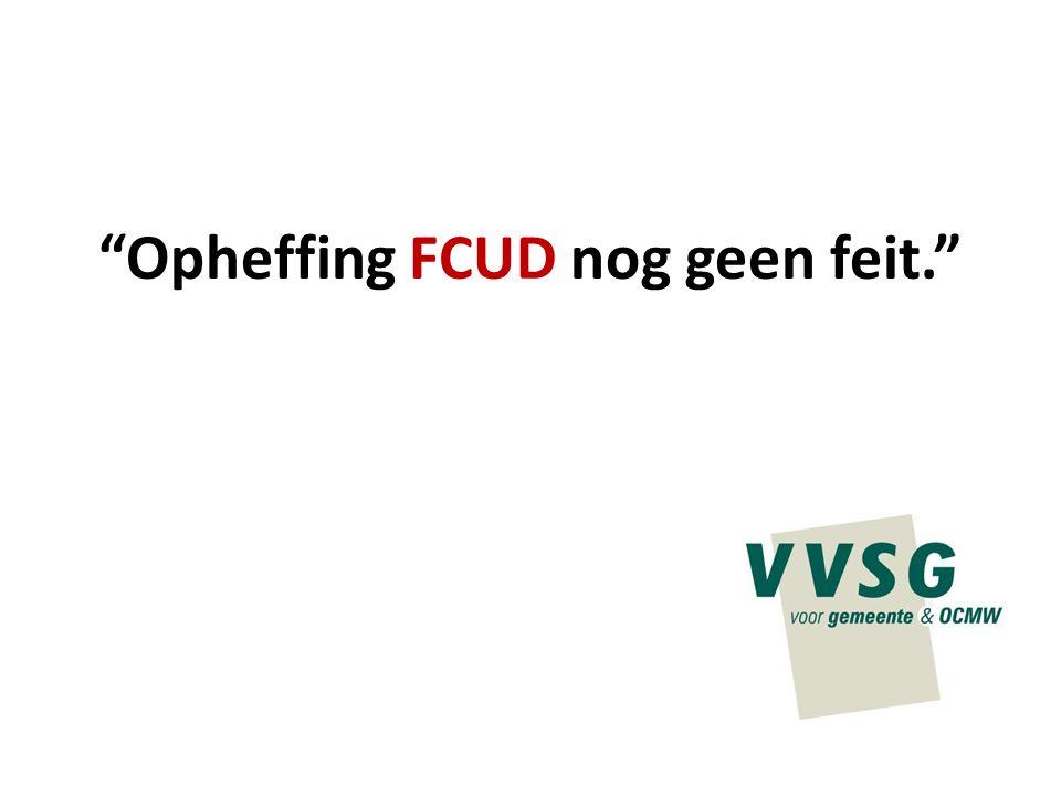"""Opheffing FCUD nog geen feit."""