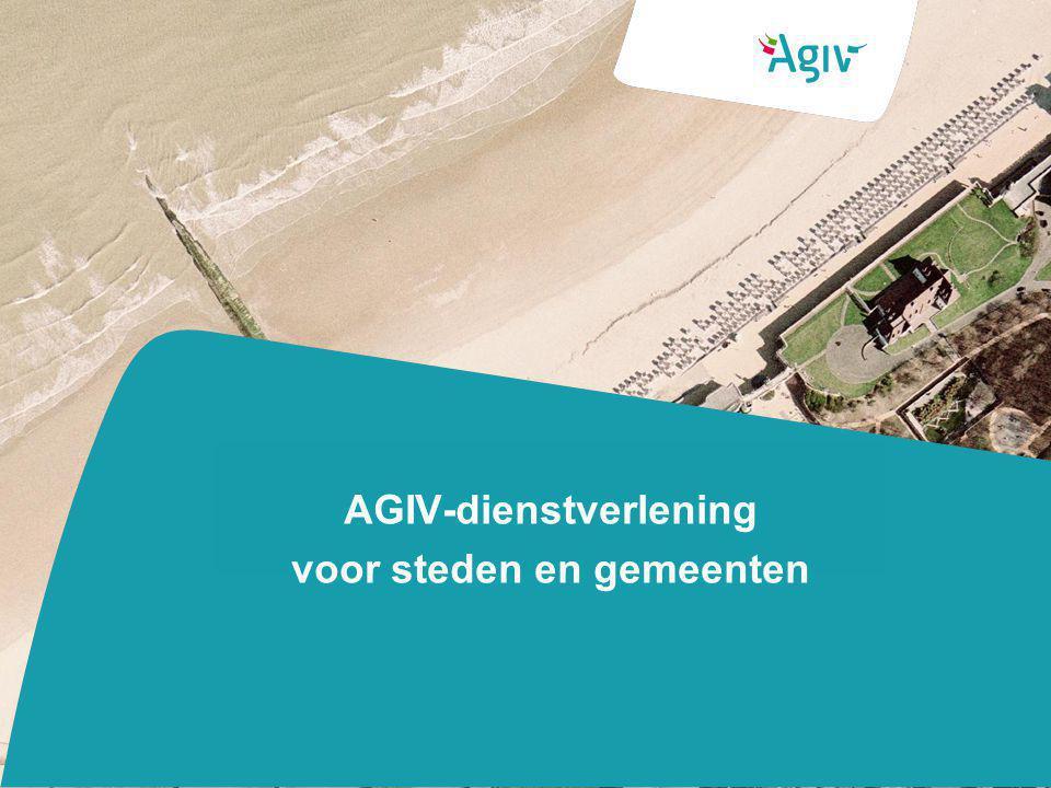 AGIV-dienstverlening voor steden en gemeenten